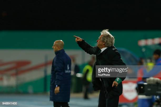 Sporting CP head coach Jorge Jesus from Portugal during the Premier League 2017/18 match between CF Os Belenenses v Sporting CP at Estadio do Restelo...
