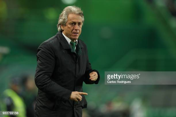 Sporting CP head coach Jorge Jesus from Portugal during the Portuguese Primeira Liga match between Sporting CP and Rio Ave FC at Estadio Jose...