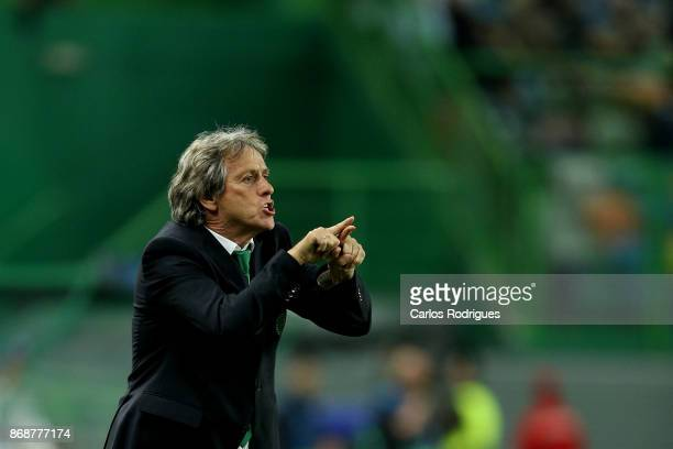 Sporting CP head coach Jorge Jesus from Portugal during the UEFA Champions League group D match between Sporting CP and Juventus FC at Estadio Jose...