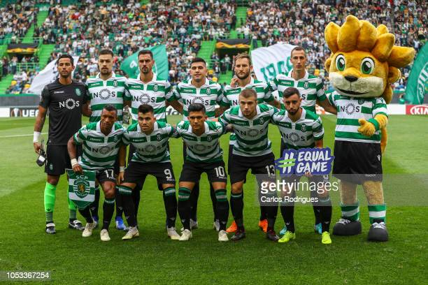 Sporting CP initial team during the UEFA Europa League Group E match between Sporting CP and Arsenal at Estadio Jose Alvalade on October 25 2018 in...