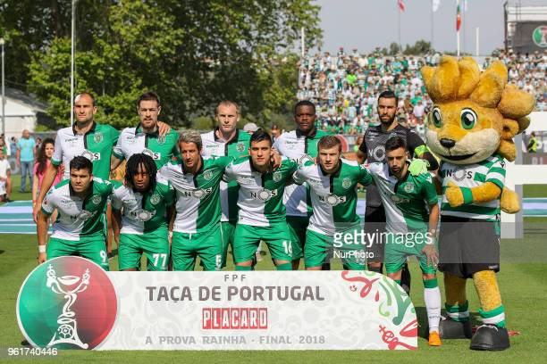 Sporting CP initial tema during the Portuguese Cup Final match between CD Aves and Sporting CP at Estadio Nacional on May 20 2018 in Oeiras Lisboa