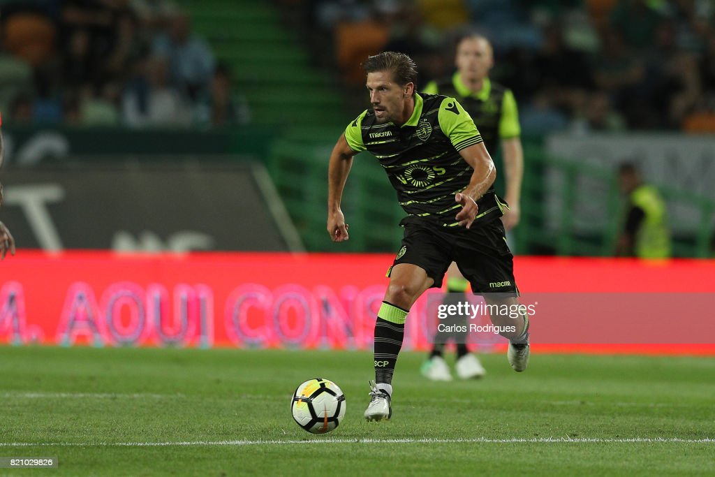 Sporting CP midfielder Adrien Silva from Portugal during the Friendly match between Sporting CP and AS Monaco at Estadio Jose Alvalade on July 22, 2017 in Lisbon, Portugal.