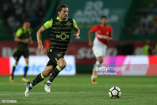 Sporting CP midfielder Adrien Silva from Portugal during the Friendly match between Sporting CP and AS Monaco at Estadio Jose Alvalade on July 22...