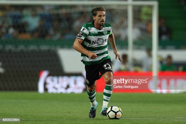 Sporting CP midfielder Adrien Silva from Portugal during the Portuguese Primeira Liga round two match between Sporting CP and Vitoria FC at Estadio...