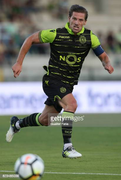 Sporting CP midfielder Adrien Silva from Portugal in action during PreSeason Friendly match between Sporting CP and Vitoria Guimaraes at Estadio...