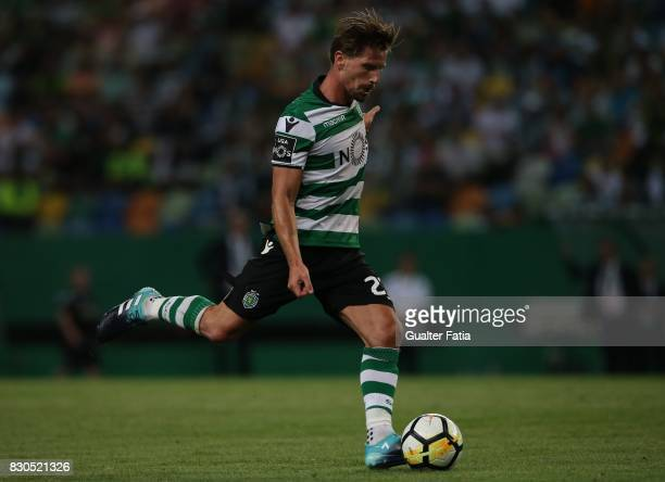 Sporting CP midfielder Adrien Silva from Portugal in action during the Primeira Liga match between Sporting CP and Vitoria Setubal at Estadio Jose...