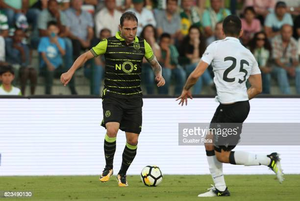 Sporting CP midfielder Bruno Cesar from Brazil in action during PreSeason Friendly match between Sporting CP and Vitoria Guimaraes at Estadio...