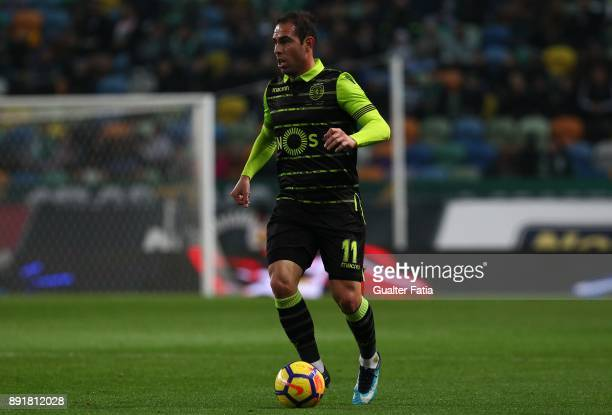 Sporting CP midfielder Bruno Cesar from Brazil in action during the Portuguese Cup match between Sporting CP and Vilaverdense at Estadio Jose...
