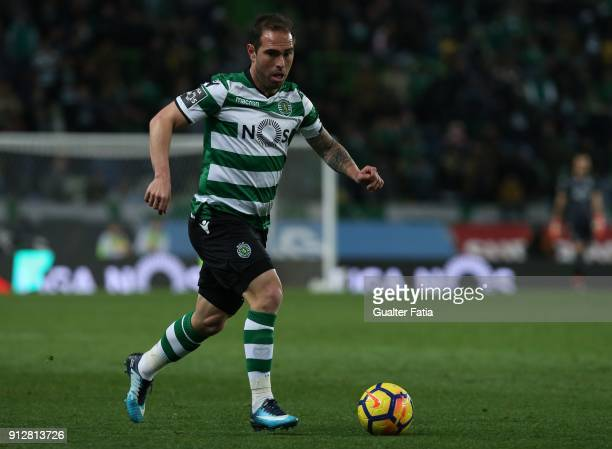 Sporting CP midfielder Bruno Cesar from Brazil in action during the Primeira Liga match between Sporting CP and Vitoria Guimaraes at Estadio Jose...