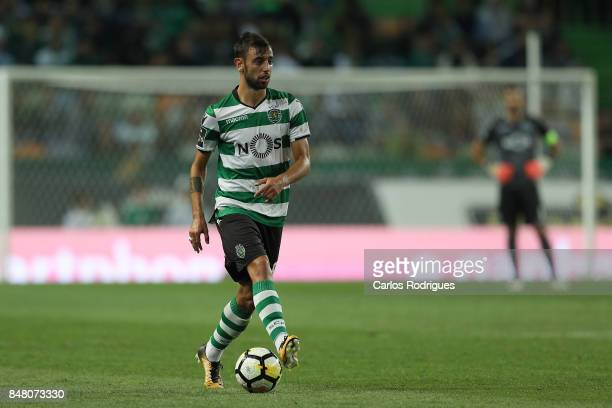 Sporting CP midfielder Bruno Fernandes from Portugal during the Portuguese Primeira Liga round 6 match between Sporting CP and CD Tondela at Estadio...