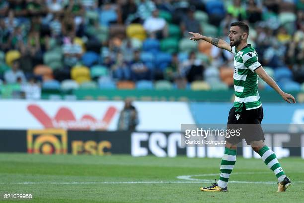 Sporting CP midfielder Bruno Fernandes from Portugal during the Friendly match between Sporting CP and AS Monaco at Estadio Jose Alvalade on July 22...