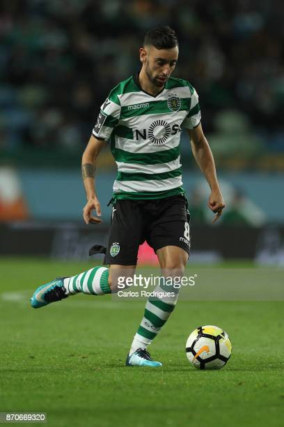 Sporting CP midfielder Bruno Fernandes from Portugal during the Portuguese Primeira Liga match between Sporting CP and SC Braga at Estadio Jose...