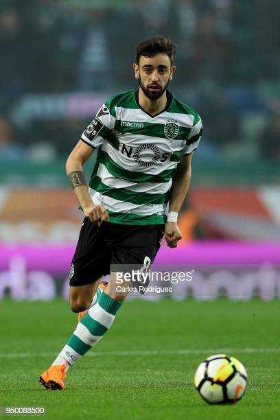 Sporting CP midfielder Bruno Fernandes from Portugal during the Portuguese Primeira Liga match between Sporting CP and Boavista FC at Estadio Jose...