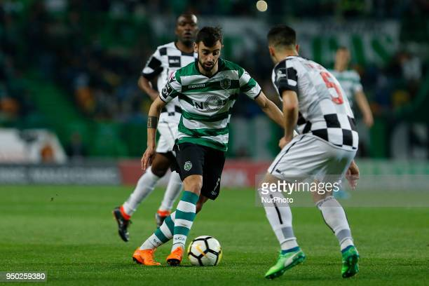 Sporting CP Midfielder Bruno Fernandes from Portugal during the Premier League 2017/18 match between Sporting CP and Boavista FC at Alvalade Stadium...