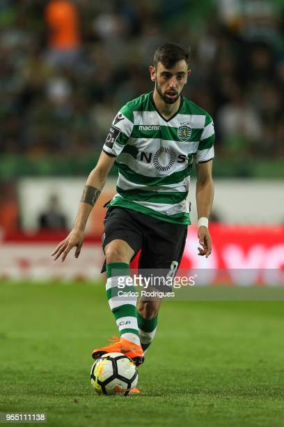 Sporting CP midfielder Bruno Fernandes from Portugal during the Portuguese Primeira Liga match between Sporting CP and SL Benfica at Estadio Jose...