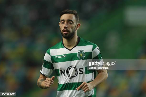 Sporting CP midfielder Bruno Fernandes from Portugalduring the Portuguese Primeira Liga match between Sporting CP and GD Chaves at Estadio Jose...