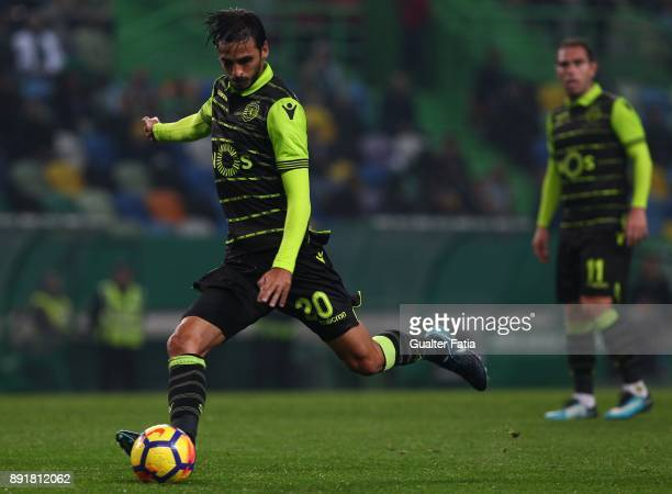 Sporting CP midfielder Bryan Ruiz from Costa Rica in action during the Portuguese Cup match between Sporting CP and Vilaverdense at Estadio Jose...