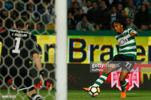 Sporting CP Midfielder Gelson Martins from Portugal during the Sporting CP v FC Porto Portuguese Cup semi finals 2 leg at Estadio Jose Alvalade on...