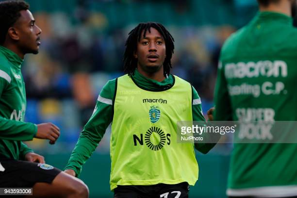 Sporting CP Midfielder Gelson Martins from Portugal during the Premier League 2017/18 match between Sporting CP v FC Pacos de Ferreira at Estadio...