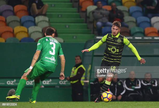Sporting CP midfielder Iuri Medeiros from Portugal in action during the Portuguese Cup match between Sporting CP and Vilaverdense at Estadio Jose...