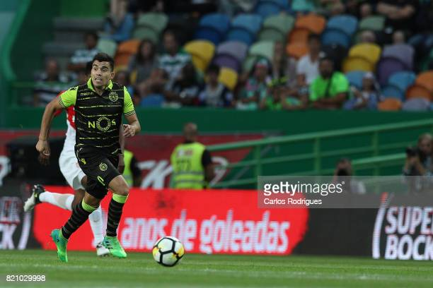 Sporting CP midfielder Marcos Acuna from Argentina during the Friendly match between Sporting CP and AS Monaco at Estadio Jose Alvalade on July 22...