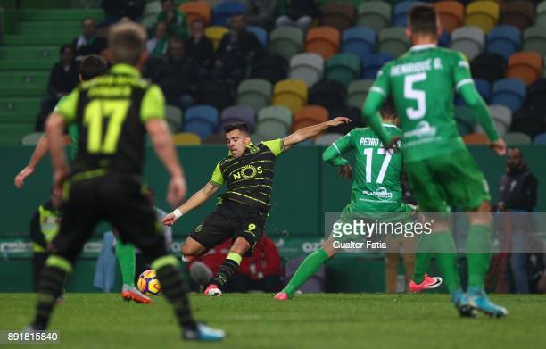 Sporting CP midfielder Marcos Acuna from Argentina in action during the Portuguese Cup match between Sporting CP and Vilaverdense at Estadio Jose...