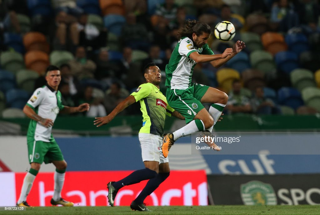 Sporting CP midfielder Matheus Oliveira from Brazil in action during the Portuguese League Cup match between Sporting CP and CS Maritimo at Estadio Jose Alvalade on September 19, 2017 in Lisbon, Portugal.