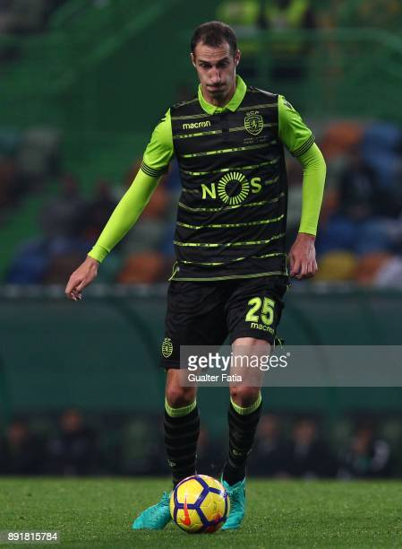 Sporting CP midfielder Radosav Petrovic from Serbia in action during the Portuguese Cup match between Sporting CP and Vilaverdense at Estadio Jose...