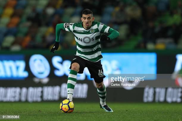 Sporting CP midfielder Rodrigo Battaglia from Argentina during the Portuguese Primeira Liga match between Sporting CP and Vitoria Guimaraes SC at...