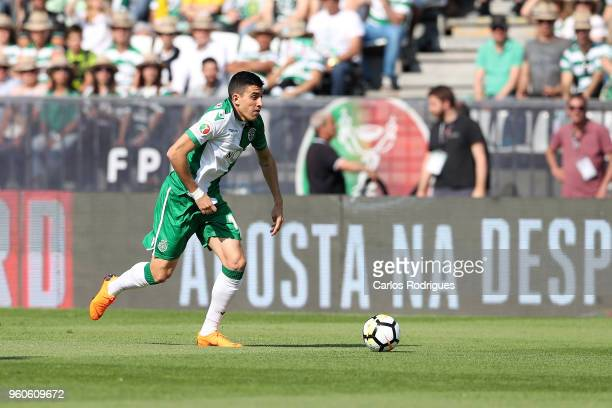 Sporting CP midfielder Rodrigo Battaglia from Argentina during the Portuguese Cup Final match between CD Aves and Sporting CP at Estadio Nacional on...
