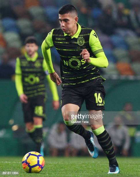 Sporting CP midfielder Rodrigo Battaglia from Argentina in action during the Portuguese Cup match between Sporting CP and Vilaverdense at Estadio...