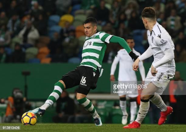 Sporting CP midfielder Rodrigo Battaglia from Argentina in action during the Primeira Liga match between Sporting CP and Vitoria Guimaraes at Estadio...