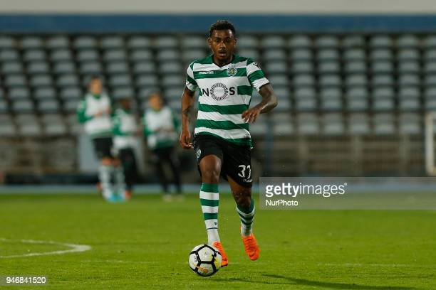 Sporting CP Midfielder Wendel from Brazil during the Premier League 2017/18 match between CF Os Belenenses v Sporting CP at Estadio do Restelo in...