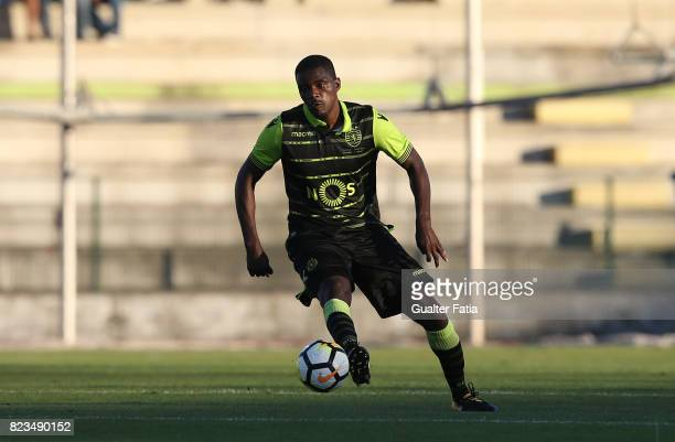 Sporting CP midfielder William Carvalho from Portugal in action during PreSeason Friendly match between Sporting CP and Vitoria Guimaraes at Estadio...
