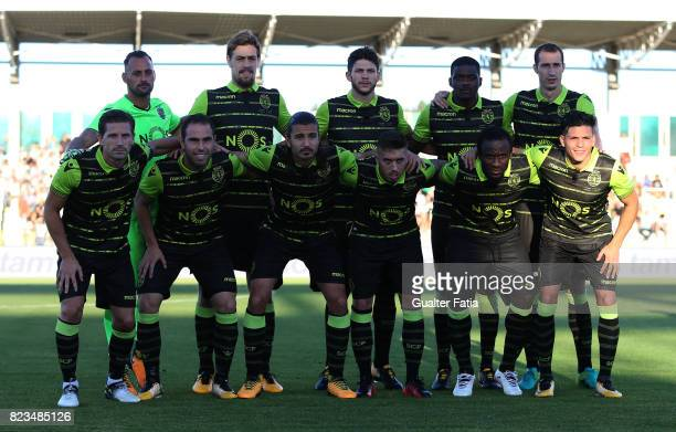 Sporting CP players pose for a team photo before the start of the PreSeason Friendly match between Sporting CP and Vitoria Guimaraes at Estadio...