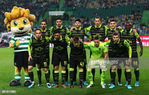 Sporting CP players pose for a team photo before the start of the Portuguese Cup match between Sporting CP and Vilaverdense at Estadio Jose Alvalade...