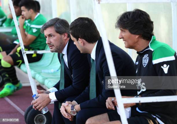 Sporting CP president Bruno de Carvalho before the start of the PreSeason Friendly match between Sporting CP and Vitoria Guimaraes at Estadio...