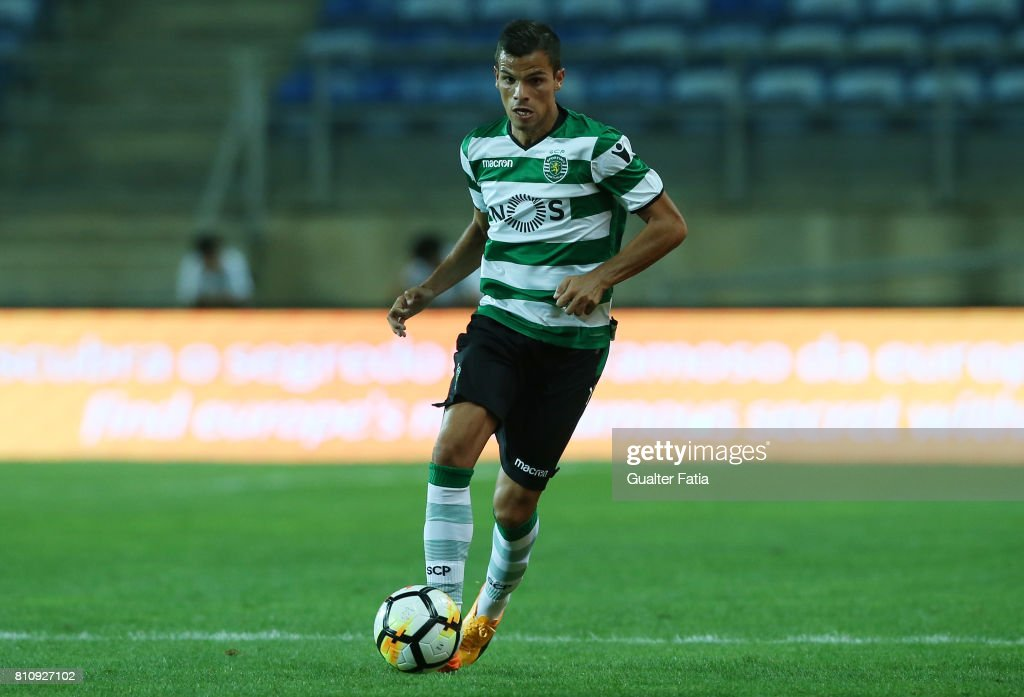 Sporting CPÕs defender Andre Geraldes from Portugal in action during the Pre-Season Friendly match between Sporting CP and CF Os Belenenses at Estadio Algarve on July 7, 2017 in Faro, Portugal.