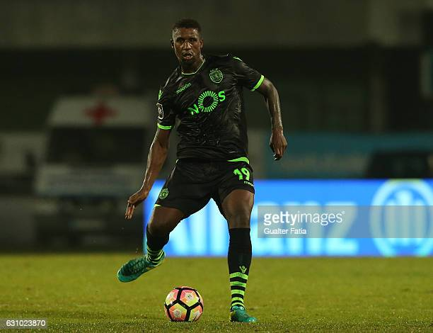 Sporting CP's defender Douglas Teixeira from Holland in action during Portuguese League Cup match between Vitoria Setubal and Sporting CP at Estadio...
