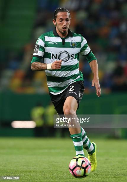 Sporting CP's defender Ezequiel Schelotto from Argentina in action during the Primeira Liga match between Sporting CP and CD Nacional at Estadio Jose...