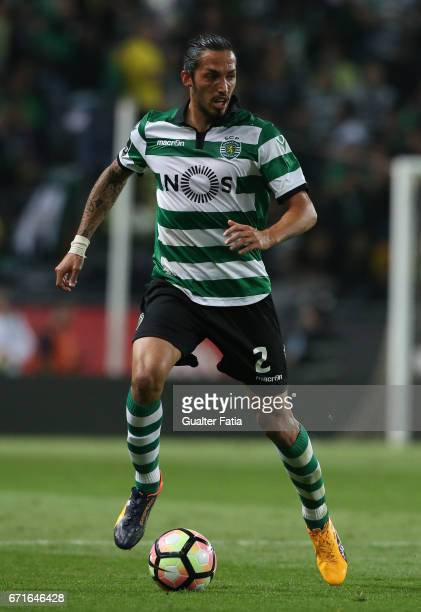 Sporting CPÕs defender Ezequiel Schelotto from Argentina in action during the Primeira Liga match between Sporting CP and SL Benfica at Estadio Jose...