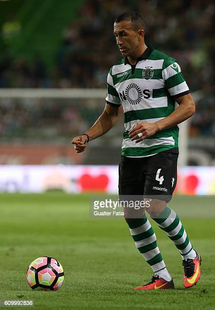 Sporting CP's defender Jefferson from Brazil in action during the Primeira Liga match between Sporting CP and Estoril Praia at Estadio Jose Alvalade...