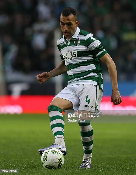 Sporting CP's defender Jefferson in action during the Primeira Liga match between Sporting CP and SC Braga at Estadio Jose Alvalade on January 10...