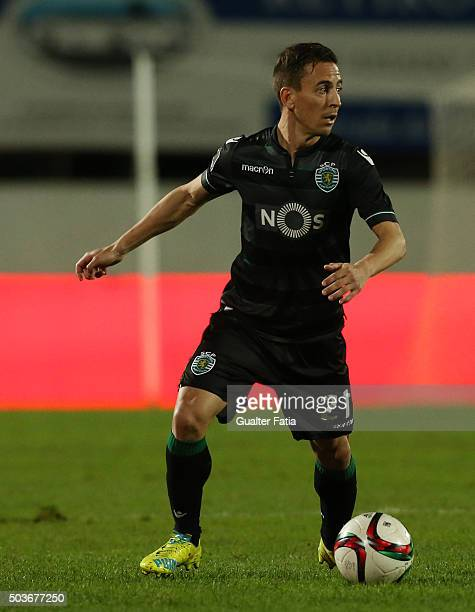 Sporting CPÕs defender Joao Pereira in action during the Primeira Liga match between Vitoria Setubal and Sporting CP at Estadio do Bonfim on January...