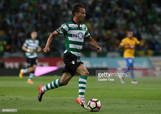 Sporting CP's defender Joao Pereira in action during the Primeira Liga match between Sporting CP and Estoril Praia at Estadio Jose Alvalade on...