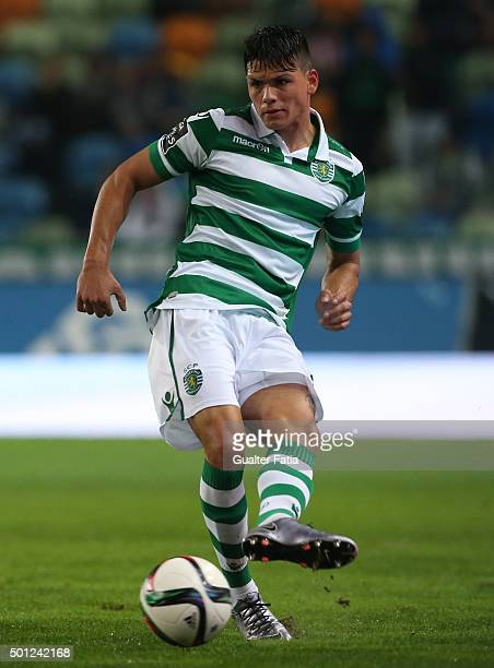 Sporting CP's defender Jonathan Silva in action during the Primeira Liga match between Sporting CP and Moreirense FC at Estadio Jose Alvalade on...