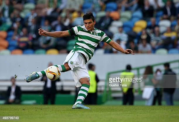 Sporting CP's defender Jonathan Silva in action during the UEFA Europa League match between Sporting CP and KF Skenderbeu at Estadio Jose de Alvalade...