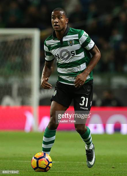 Sporting CP's defender Marvin Zeegelaar from Holland in action during the Primeira Liga match between Sporting CP and SC Braga at Estadio Jose...