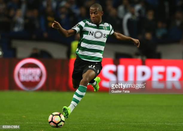 Sporting CPÕs defender Marvin Zeegelaar from Holland in action during the Primeira Liga match between FC Porto and Sporting CP at Estadio do Dragao...