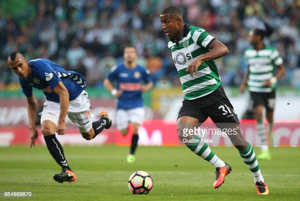 Sporting CP's defender Marvin Zeegelaar from Holland in action during the Primeira Liga match between Sporting CP and CD Nacional at Estadio Jose...